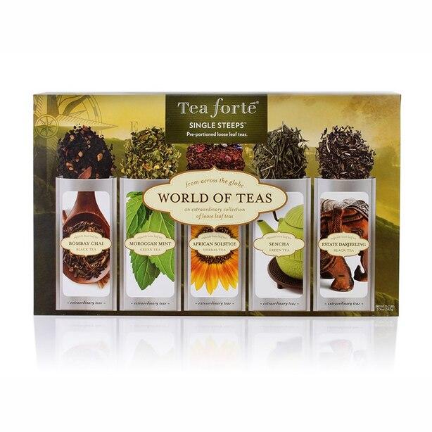 Assortiment de thés Tea Forte ® pour tasse individuelle – Thés du monde