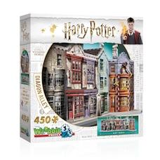 Casse-tête Wrebbit 3D - Harry Potter - Le Chemin de Traverse (450 pièces)