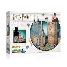 Casse-tête Wrebbit 3D - Harry Potter - Poudlard Grande Salle (850 pièces)