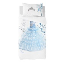 Gouchee Design Twin Duvet Cover Set Princess Blue 2-Piece