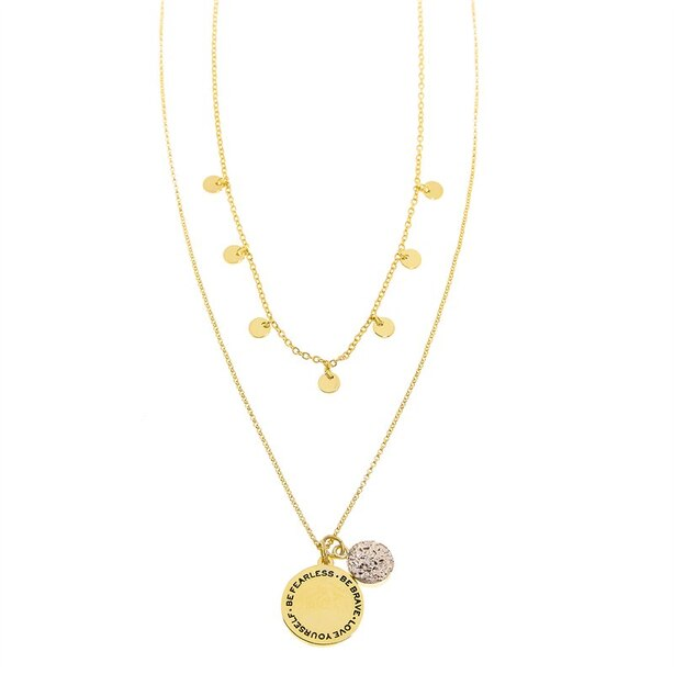 Foxy Originals® GOOD KARMA NECKLACE - FEARLESS GOLD