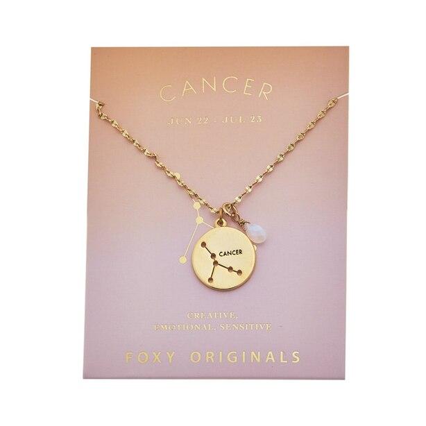 Stargazer Cancer Necklace in Gold