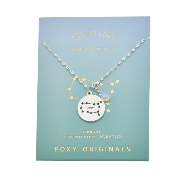 Stargazer Gemini Necklace in Silver