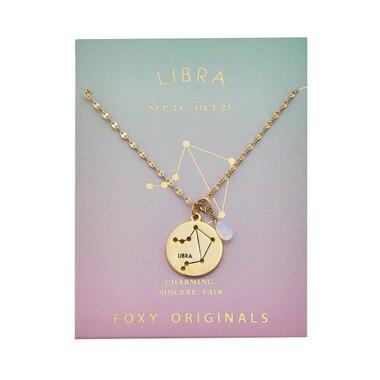 Stargazer Libra Necklace in Gold