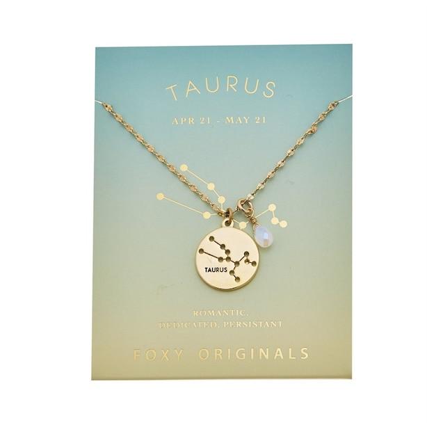 Stargazer Taurus Necklace in Gold