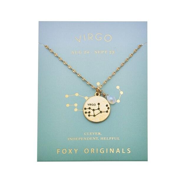 Stargazer Virgo Necklace in Gold