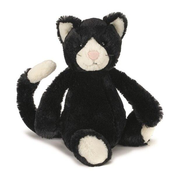 Bashful Black & White Kitten, Medium