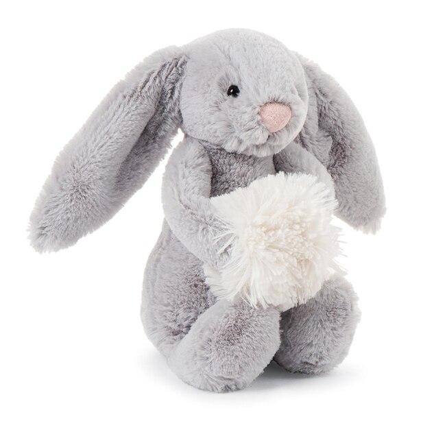 Jellycat® Bashful Snow Bunny Grey Small Plush