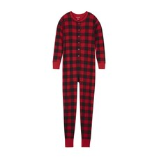 22afa5f24df Hatley Adult Union Suit - Plaid Bearly Sleeping