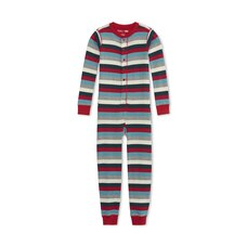 HATLEY X INDIGO KIDS UNION SUIT HOLIDAY STRIPE SIZE 4