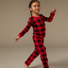 Hatley X Indigo Kid's Pajama Set - Buffalo Plaid Size 2