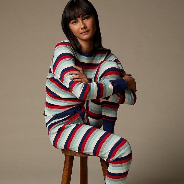 Hatley X Indigo Women'S Pajama Set - Stripes Small