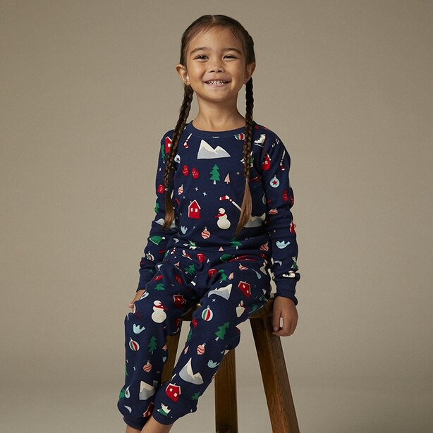 Hatley X Indigo Kid's Pajama Set - Winter Size 2
