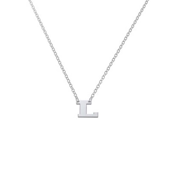 Sterling Silver 'L' Initial Letter Necklace