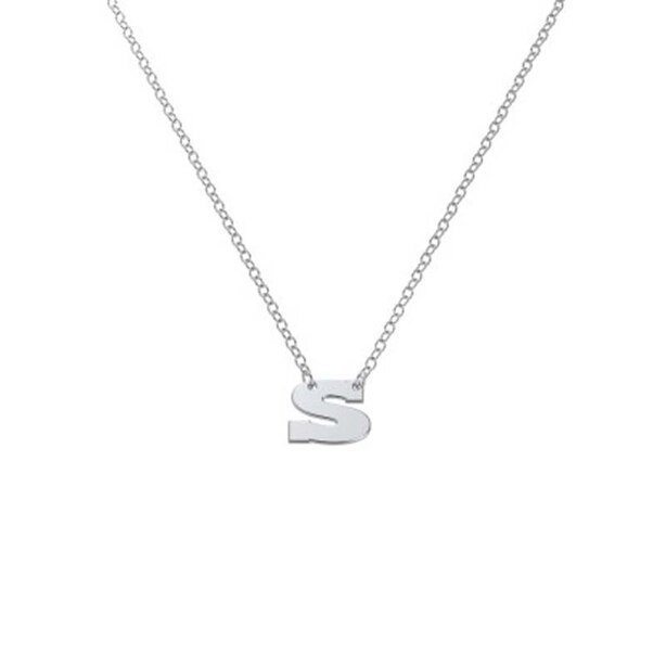 Sterling Silver 'S' Initial Letter Necklace
