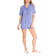 PJ SALVAGE POLKA DOT SHORT SLEEVE PJ SET - PERI, EXTRA SMALL