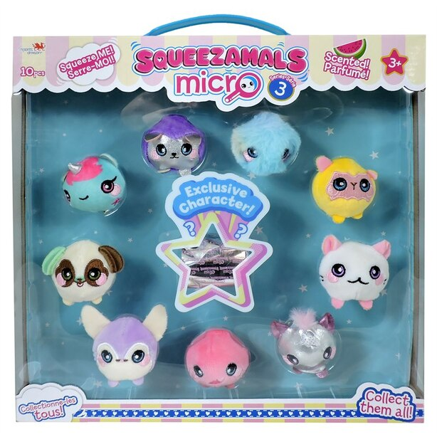Squeezamals™ Micro Plush 10 Pack 1.5'' by Squeezamals