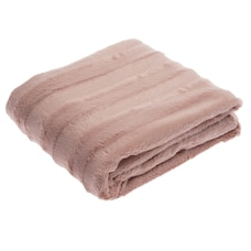 LUXE FAUX FUR THROW DUSTY ROSE