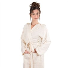Pokoloko Bamboo Robe - Cream, Small