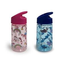 IndigoKids Water Bottle Unicorn/Shark 350 ML Set of 2