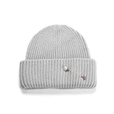 Soia & Kyo Anissa Rib Knit Hat With Folded Hem - Ash