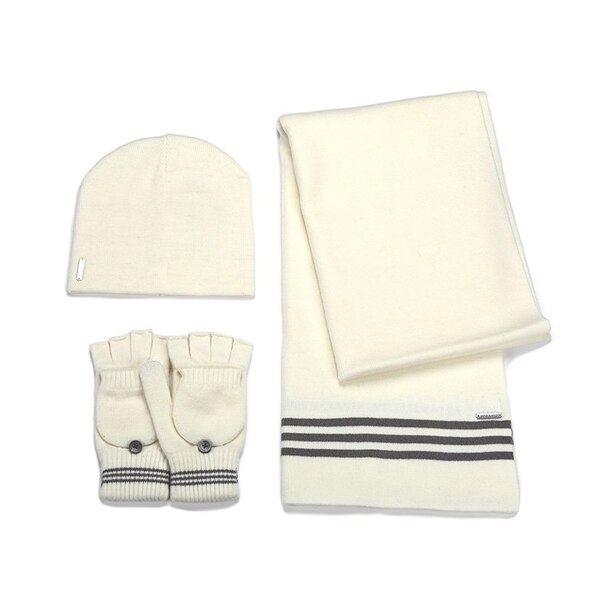 Soia & Kyo Clary 3-Piece Hat, Gloves & Scarf Set - Off-White