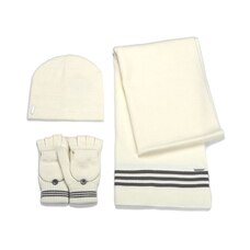Soia & Kyo Clary 3-Piece Hat, Gloves & Scarf Set - Off-White
