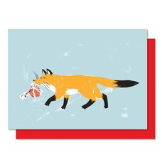 Boxed Cards - Fox carrying present