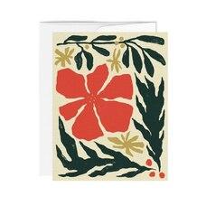 BOXED CARDS (6) POINSETTIA