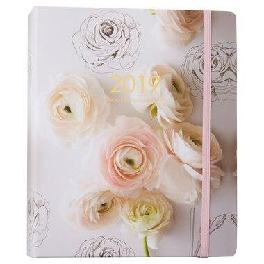 2018-2019 17-Month Large Hidden Spiral Agenda - Floral Bouquet