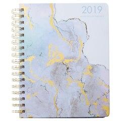 2018-2019 17-Month Medium Hidden Spiral Agenda - Purple Santorini