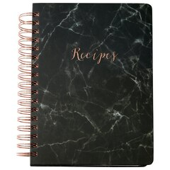 Recipe Binder White Marble