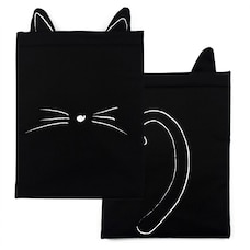 THE BOOK BESTIE - BLACK CAT BOOK SLEEVE