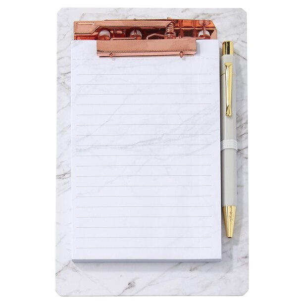CLIPBOARD LIST PAD MARBLE
