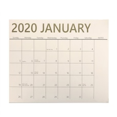 2020 12-MONTH MAGNETIC WALL CALENDAR CLASSIC GOLD