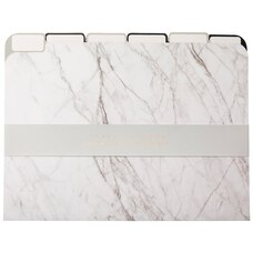File Folder Marble Black and White Set of 6