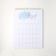 2020-2021 17-Month Wall Calendar Watercolour Dot