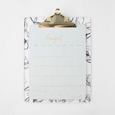 2020-2021 17-Month Desk Calendar Acrylic Floral Clipboard
