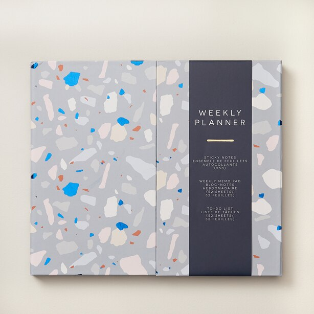 GUIDED STATIONERY BOOK TERRAZZO NAVY