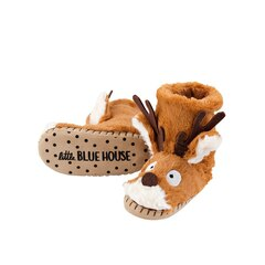 KIDS SLIPPERS, BROWN REINDEER SMALL