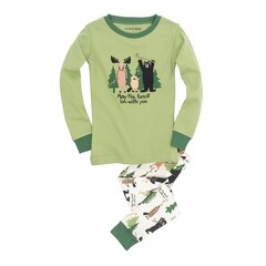 Kids Pajama Set, May The Forest Be With You, Size 4