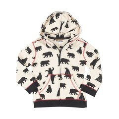 Kids Zip-Up Hoddie Sweater, Black Bears, Size 6
