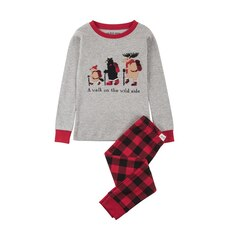 Long Sleeve Pajama Set, A Walk On The Wild Side Size 4