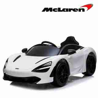 Licensed Mclaren 720S 12V Ride On Car with Remote Control for Kids, Leather Seat, Butterfly Doors, Bluetooth, MP3, USB, Suspension and LED Lights (WHITE)