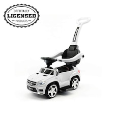 Push Car, Official Licensed Mercedes-Benz AMG GL63 4-in-1 Baby Push Pedal Ride-On Car with Push Bar…