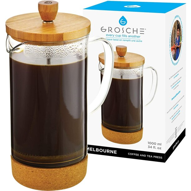 Melbourne Bamboo Glass French Press