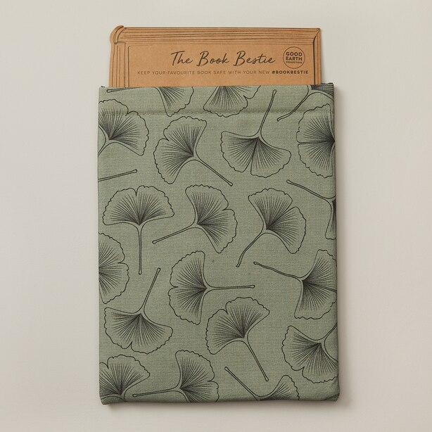 GOOD EARTH  BOOK BESTIE BOOK  SLEEVE GREEN GINKO