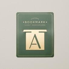MONOGRAM BOOKMARK A