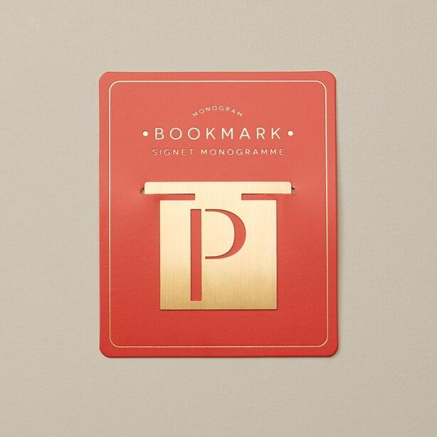 MONOGRAM BOOKMARK P