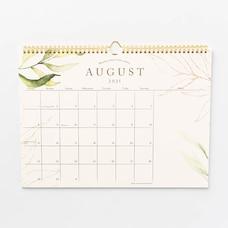 Aug 2021 - Dec 2022 17 Month Spiral Eucalyptus Calendar